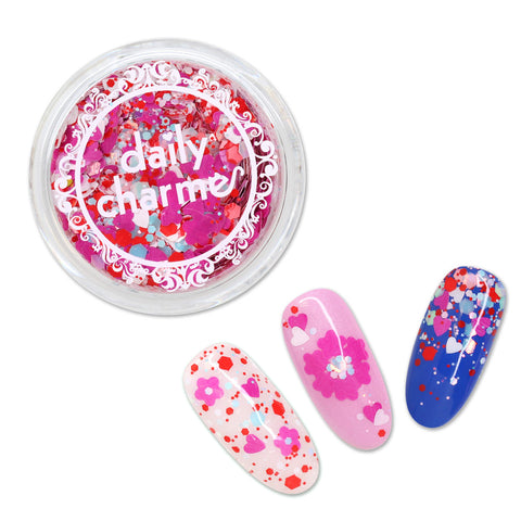 Lovely Heart Glitter Mix / Be My Baby Valentine's Day Nail Art