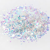 Aurora Shattered Glass Glitter Flakes Opal Iridescent Nail Art