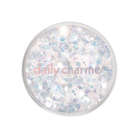 Aurora Mixed Transparent Iridescent Hex Glitters / 20G Nail Art