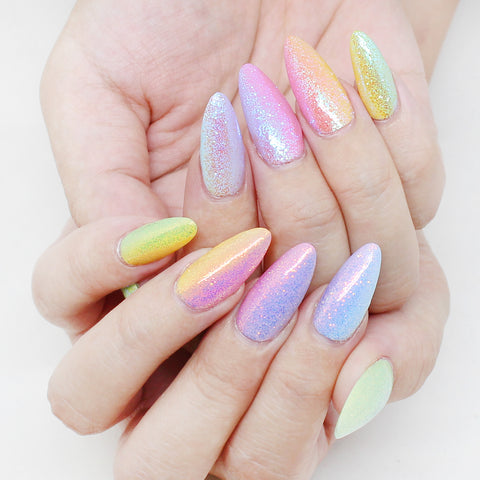 Dreamy Fairy Dust Magic Glitter Pastel Rainbow Nail Art Supplies