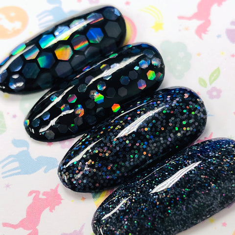 Clear Holographic Holo Hex Glitter for Nail Art