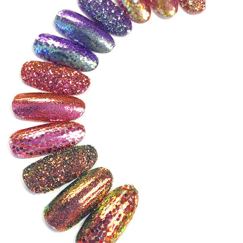 Chameleon Color Shifting Glitter / Dark Phoenix Nail Art Burnish Glitter Nails