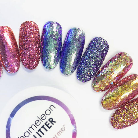 Chameleon Color Shifting Glitter / Dragon Flame Pink Gold