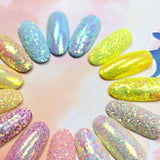 Pastel Iridescent Glitter / Key Lime Pie Neon Yellow Nail Art Glitter