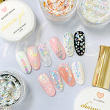Nail Art Decor Silver Striped Holographic Glitter Dot Mix