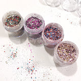 Alice Metallic Glitter Mix Set / 4 Jars Daily Charme Nail Art Decoration
