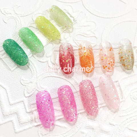 Aurora Iridescent Glitter Mix Set / 4 Jars Daily Charme Nail Art Decorations
