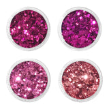 Dollhouse Metallic Glitter Mix Set / 4 Jars Daily Charme Nail Art Decorations