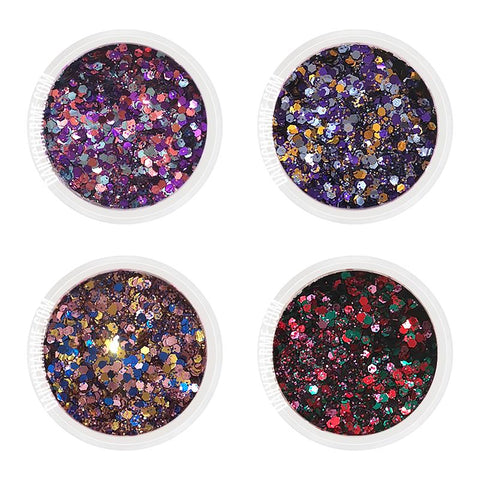 Halloween Party Metallic Glitter Mix Set / Fine Nail Art