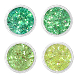Tinker Fairy Iridescent Glitter Mix Set / 4 Jars Daily Charme Nail Art Decorations