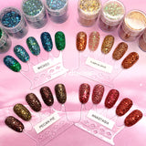 Wicked Metallic Nail Art Glitter Green Turquoise Blue Fall