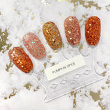 Pumpkin Spice Metallic Glitter Mix Fall Autumn Orange Nails