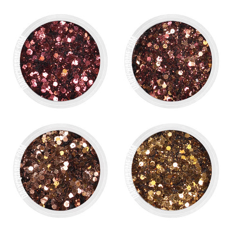 Pecan Pie Metallic Nail Art Glitter Fall Brown Bronze Burgundy