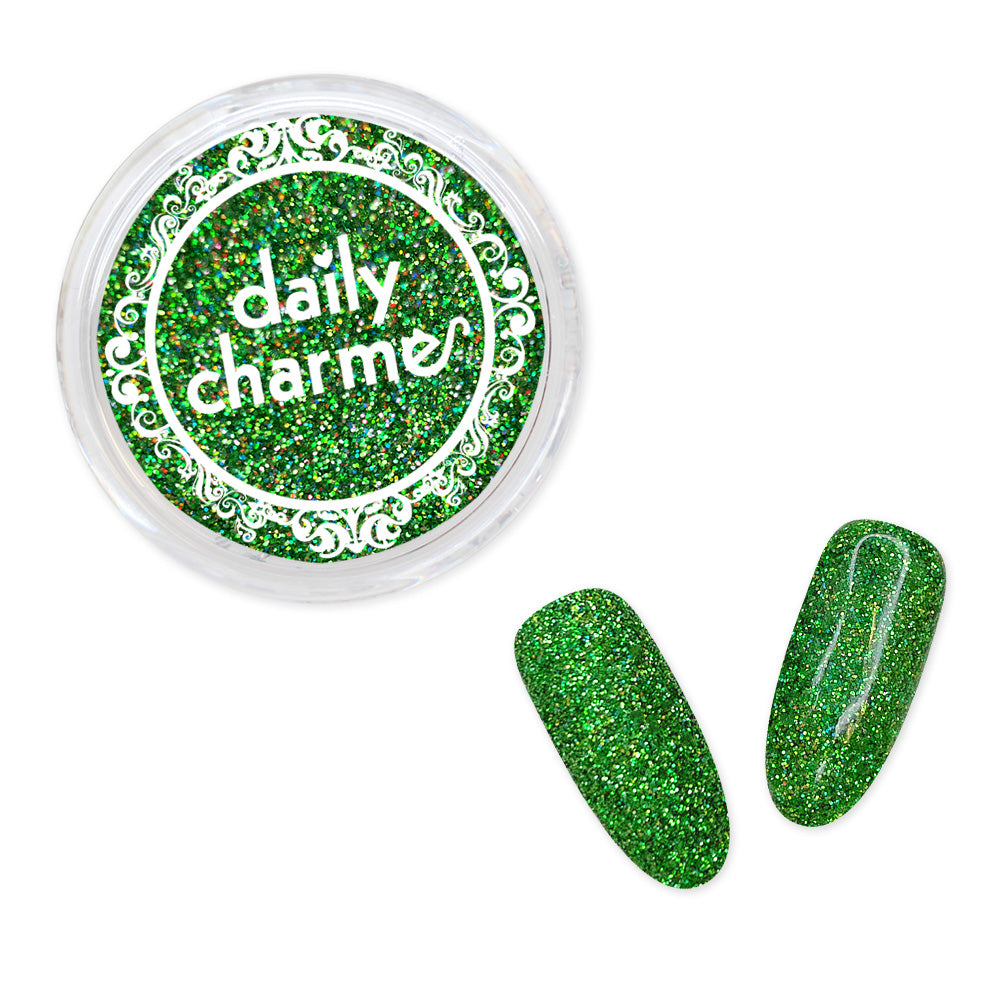 Daily Charme Nail Art Decoration Holographic Glitter Dust / Tropical Green