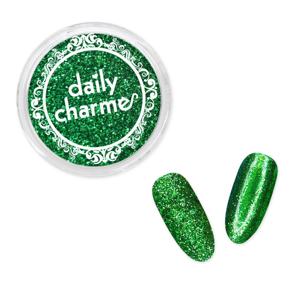 Daily Charme Solvent Resistant Nail Art Decoration Metallic Glitter Dust / Royal Emerald