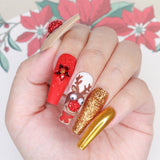 Daily Charme Solvent Resistant Nail Art Decoration Metallic Glitter Dust / Gold Dust