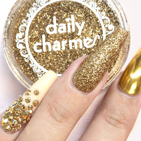 Daily Charme Nail Art Metallic Glitter Dust / Champagne Gold