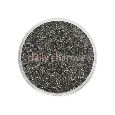 Daily Charme Nail Art Metallic Glitter Dust / Sterling Gunmetal