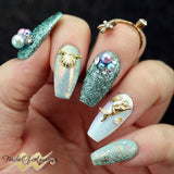 Daily Charme Nail Art Metallic Glitter Dust / Mermaid Nails Summer 2017