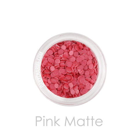 Daily Charme Solvent Resistant Glitter Pink Matte Dot Glitter 2mm