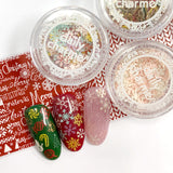 Delicate Soft Paper Glitter Mix / Holiday Spirit Colorful Nail Art Christmas