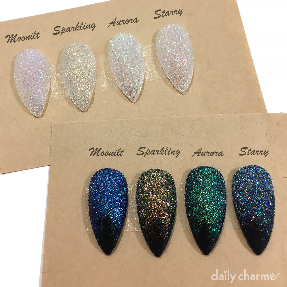 Daily Charme Solvent Resistant Nail Art Iridescent Glitter Dust / Aurora Night