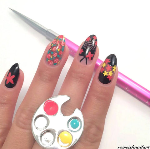 Daily Charme Ring Palette Nail Art Tool