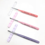 Nail Art Brush Holder / Transparent / Pink / Purple