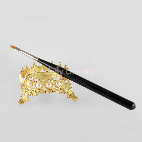 Royal Crown Brush Stand / Gold Nail Art Supplies