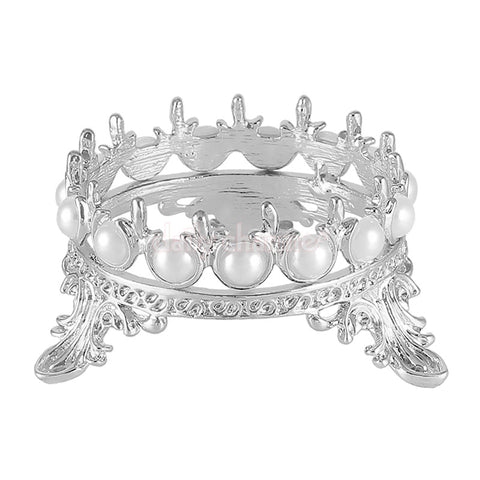 Royal Crown Brush Stand / Silver Nail Art Supplies