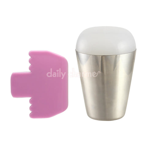 Nail Art Large Sticky Marshmallow Stamper & Scraper Set