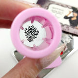 Quality Clear Jelly Stamper & Scraper Set Pink Nail Supply MoYou Stamp Art Plates
