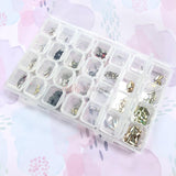 Plastic Nail Art Decor Storage Box for Charms, Crystals, Studs