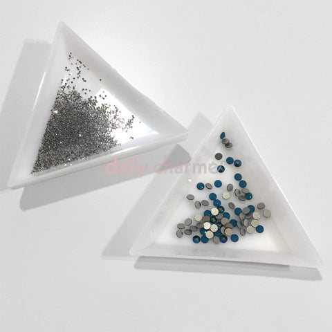 Triangle Nail Art Rhinestone Decoration Sorting Trays