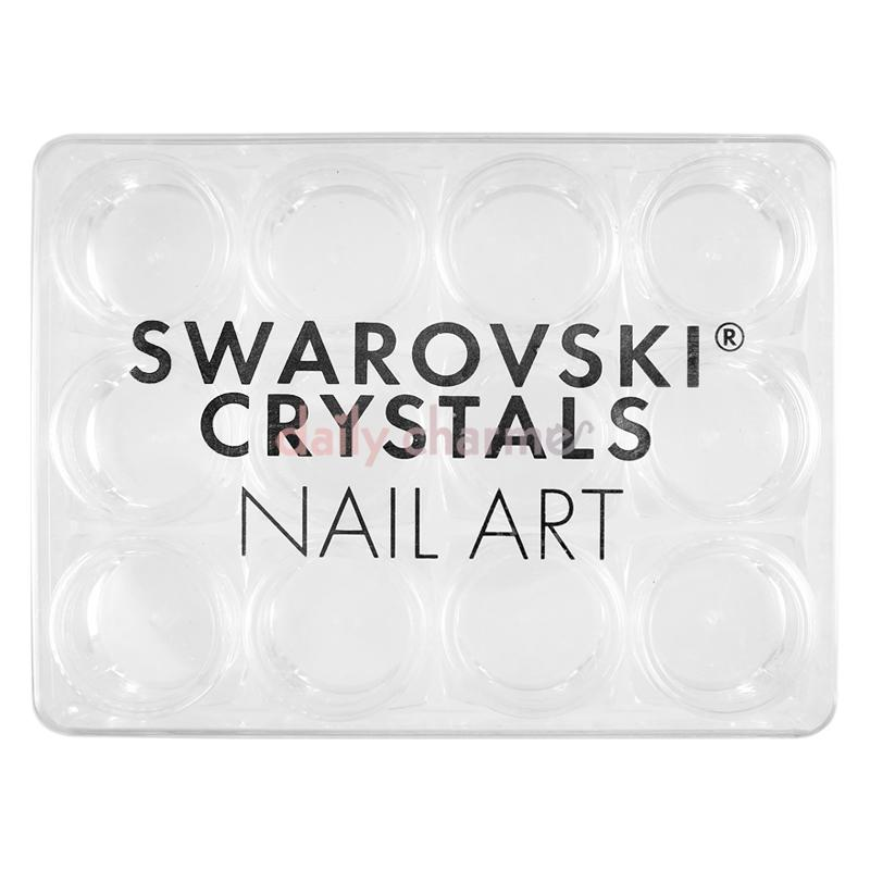 Swarovski Crystals Clear Acrylic Jars Set / 12 Jars