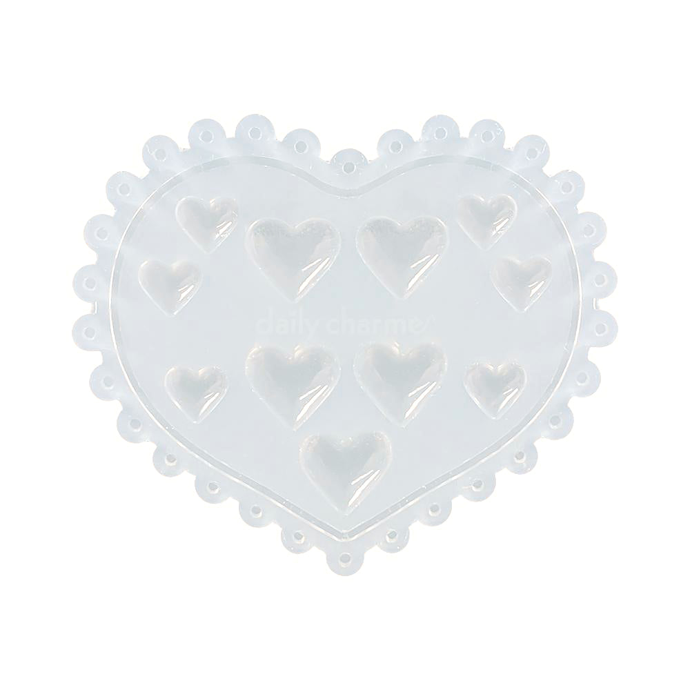 Daily Charme Silicone Nail Art Mold / Lovely Hearts