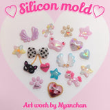 Art Me Silicone Mold / My Unicorn Stars Angel Wings Japanese 3D Nail Art