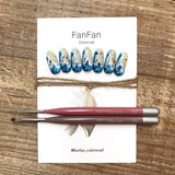 Nail Partner X Colors Nail FanFan Angular Brush Japanese Nail Art