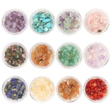 Natural Nail Art Gemstones / 12 Colors Amethyst Turquoise Rose Quartz Coral
