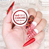 Nail Art Foil Paper Christmas Holiday Red Nordic Sweater Design
