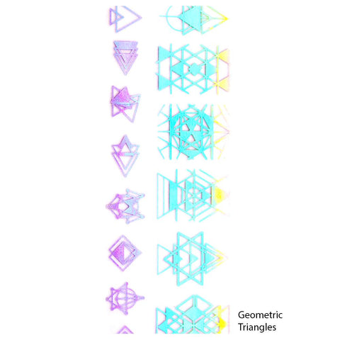 Nail Art Foil Paper / Holographic Prints Geometric Triangles