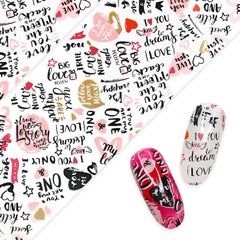Daily Charme nail art foil paper in Love Vibes Valentine's Day