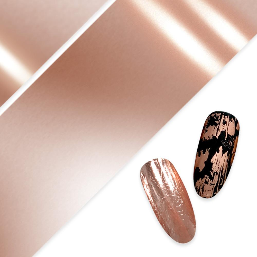 Nail Art Foil Paper / Rose Gold Pink Nail Art Metallic Design