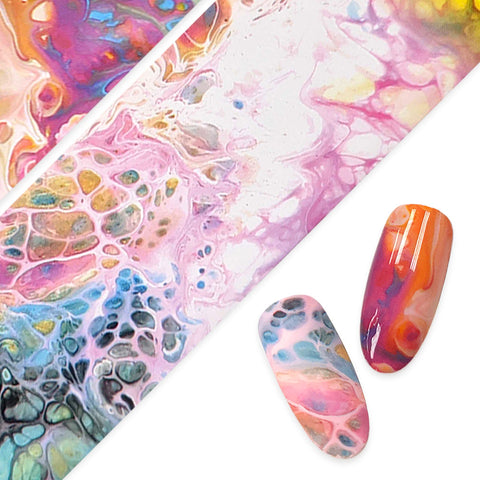 Daily Charme Nail Art Foil Paper Rainbow Sea Foam Ocean Mermaid Nails