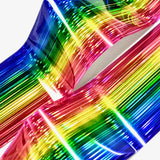 Daily Charme Nail Art Foil Paper Holographic Rainbow Stripe Pride Nail