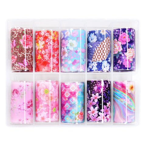 Nail Art Foil Box Set / 10 Designs / Kawaii Origami Nail Art