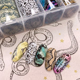 Nail Art Foil Box / Exotic Pythons Snakeskin Nail Design Animal Print