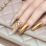 Nail Art Gold Metallic 0.8 1mm 1.2 1.5mm Caviar Micro Beads