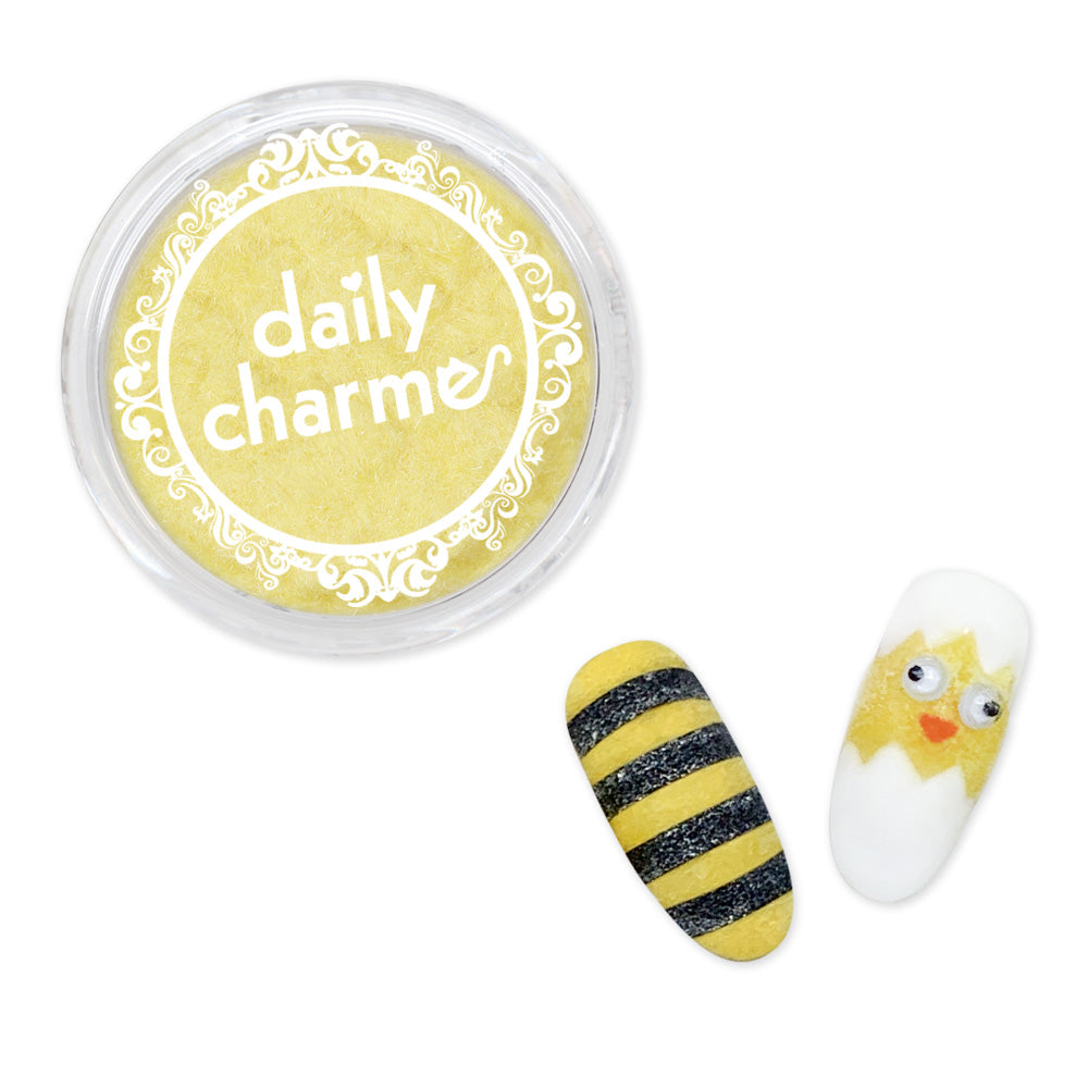 Nail Art Velvet Flocking Powder / Yellow Chick Duckling Bee Nails