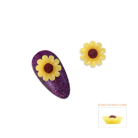 Nail Art Supply 3D Resin - Sunflower Daisy / Cabochon
